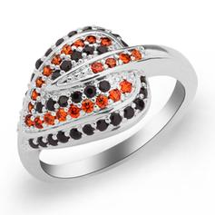 Rings Copper/Zircon/Platinum Plated Ladies' Unique Wedding & Party Jewelry