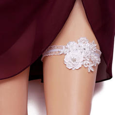 Garters Women/Bridal Wedding/Special Occasion Polyester With Flower/Rhinestone Garter