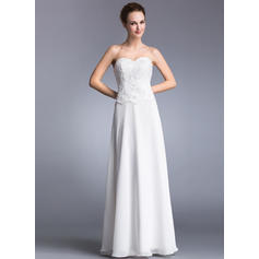 A-Line/Princess Sweetheart Floor-Length Prom Dresses With Lace Beading Sequins (018041025)