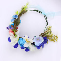 """Flowers & Feathers Wedding/Special Occasion/Party Fabric 8.27""""(Approx.21cm) 7.48""""(Approx.19cm) Headpieces"""