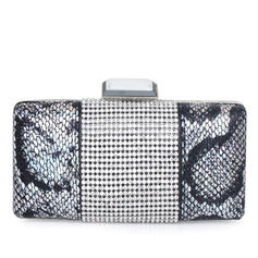 Clutches Ceremony & Party Stainless Steel/PU Clip Closure Unique Clutches & Evening Bags