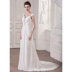 white lace high low wedding dresses
