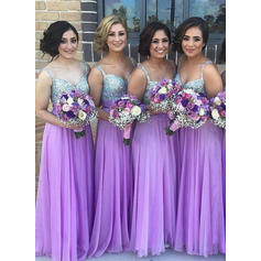 A-Line/Princess Sweetheart Floor-Length Bridesmaid Dresses (007145013)