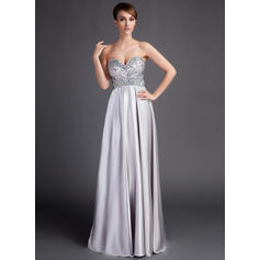 Empire Sweetheart Sweep Train Mother of the Bride Dresses With Ruffle Beading