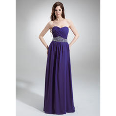 A-Line/Princess Sweetheart Floor-Length Evening Dresses With Ruffle Beading Sequins (017016243)