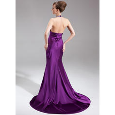red low back evening dresses