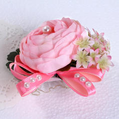 Wrist Corsage Round Wedding Silk (Sold in a single piece) Wedding Flowers