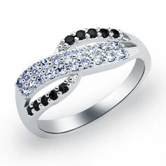 Rings Copper/Zircon/Platinum Plated Ladies' Beautiful Wedding & Party Jewelry