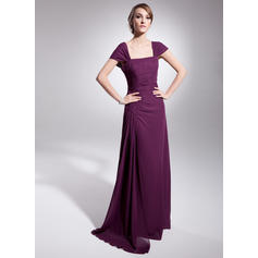 newdeve chiffon mother of the bride dresses tea length