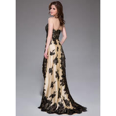 yellow lace prom dresses