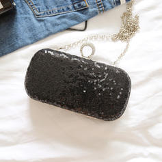 "Clutches/Satchel Wedding/Ceremony & Party Lace/Sequin Kiss lock closure 7.87""(Approx.20cm) Clutches & Evening Bags"