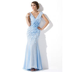 draped evening dresses with sleeves