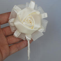 "Boutonniere Round Wedding/Party Satin 4.33""(Approx.11cm) Wedding Flowers"