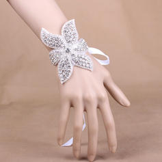 "Wrist Corsage Wedding/Party Satin 3.94"" (Approx.10cm) The color of embellishments are shown as picture/The length of wrist corsage is adjustable Wedding Flowers"
