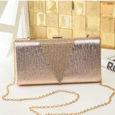 """Clutches/Satchel Wedding/Ceremony & Party PU Shining 8.67""""(Approx.22cm) Clutches & Evening Bags"""