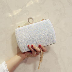 "Clutches/Satchel/Totes Wedding/Ceremony & Party Sequin/Sparkling Glitter/Abrasive Cloth Kiss lock closure 7.87""(Approx.20cm) Clutches & Evening Bags"