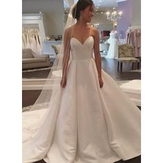 Ball-Gown Sweetheart Court Train Wedding Dresses (002148111)