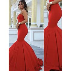 Trumpet/Mermaid Sweetheart Floor-Length Prom Dresses
