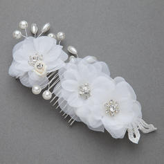 "Combs & Barrettes Wedding/Special Occasion/Party Imitation Pearls/Artificial Silk 6.89""(Approx.17.5cm) 2.95""(Approx.7.5cm) Headpieces"