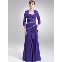 A-Line/Princess Sweetheart Floor-Length Mother of the Bride Dresses With Ruffle Beading Sequins (008211031)