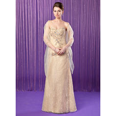 Sheath/Column Sweetheart Floor-Length Mother of the Bride Dresses With Beading Sequins (008211453)