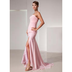 evening dresses with sleeves and hi waist