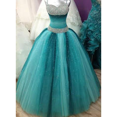 Ball-Gown Sweetheart Floor-Length Prom Dresses With Beading (018210215)