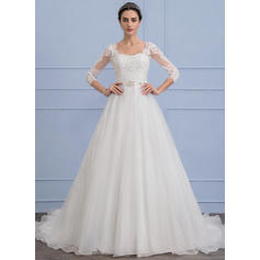 satin wedding dresses with sleeves uk