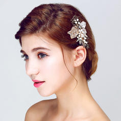 "Combs & Barrettes Wedding/Special Occasion/Party Alloy/Imitation Pearls 3.74""(Approx.9.5cm) 2.17""(Approx.5.5cm) Headpieces"