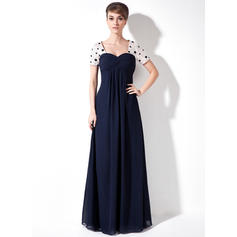 Empire Sweetheart Floor-Length Mother of the Bride Dresses With Ruffle Beading Sequins