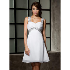 Empire Sweetheart Short/Mini Homecoming Dresses With Ruffle Beading Sequins (022213931)