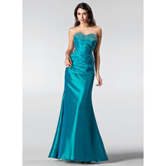 Trumpet/Mermaid Sweetheart Floor-Length Prom Dresses With Ruffle Beading Sequins (018002510)