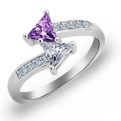 Rings Copper/Zircon/Platinum Plated Ladies' Chic Wedding & Party Jewelry
