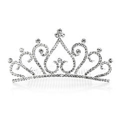 """Tiaras Wedding/Special Occasion/Party Rhinestone/Alloy 4.72""""(Approx.12cm) 2.17""""(Approx.5.5cm) Headpieces"""