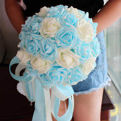 "Bridal Bouquets Round Wedding 9.84""(Approx.25cm) 9.49""(Approx.24cm) Wedding Flowers"