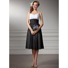 Empire Sweetheart Knee-Length Bridesmaid Dresses With Ruffle (007001830)
