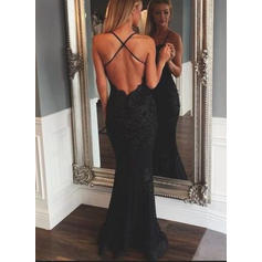 Trumpet/Mermaid V-neck Floor-Length Evening Dresses (017145549)