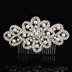 """Combs & Barrettes Wedding/Special Occasion/Casual/Outdoor/Party Rhinestone/Alloy/Imitation Pearls 4.53""""(Approx.11.5cm) 2.76""""(Approx.7cm) Headpieces"""