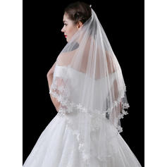 Waltz Bridal Veils Tulle/Lace One-tier Classic With Lace Applique Edge Wedding Veils