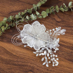 "Combs & Barrettes Wedding Crystal/Imitation Pearls 5.91""(Approx.15cm) 3.94""(Approx.10cm) Headpieces"