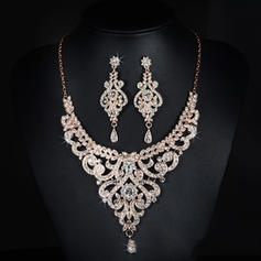Jewelry Sets Alloy/Rhinestones Lobster Clasp Pierced Ladies' Wedding & Party Jewelry