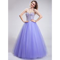 Ball-Gown Sweetheart Floor-Length Prom Dresses With Beading Sequins (018025286)