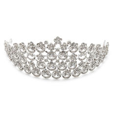 """Tiaras Wedding/Special Occasion/Party Rhinestone/Alloy 11.02""""(Approx.28cm) 2.76""""(Approx.7cm) Headpieces"""