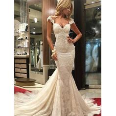 Trumpet/Mermaid Sweetheart Chapel Train Wedding Dresses