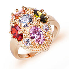 Rings Zircon/Platinum Plated Ladies' Attractive Wedding & Party Jewelry
