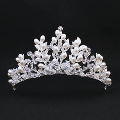 "Tiaras Wedding Imitation Pearls 4.92""(Approx.12.5cm) 2.36""(Approx.6cm) Headpieces"