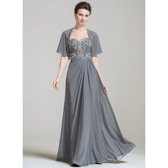 A-Line/Princess Sweetheart Floor-Length Mother of the Bride Dresses With Ruffle Lace Beading Sequins