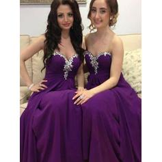 A-Line/Princess Sweetheart Floor-Length Bridesmaid Dresses With Beading (007211690)