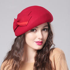 Wool With Bowknot Beret Hat Beautiful Ladies' Hats