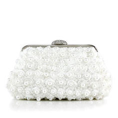 Clutches Wedding/Ceremony & Party Lace/Beading Clip Closure Shining Clutches & Evening Bags
